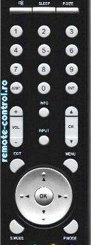 Telecomanda AKAI MTK15XBB_remote-control.ro