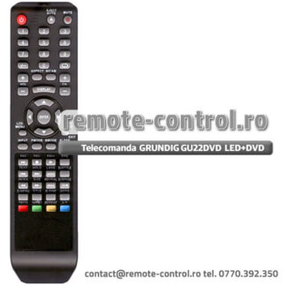 Telecomanda GRUNDIG model GU22DVD LED TV cu DVD incorporat