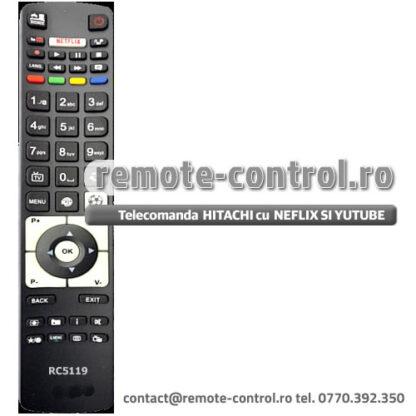 Telecomanda RC5119 HITACHI 32HB1S66I cu NETFLIX, YOUTUBE si SPORT