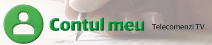 Contul meu pe shop-ul online de telecomenzi romote-control.ro
